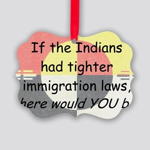 Immigration Laws Picture Ornament