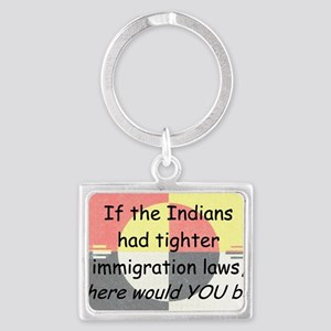 Immigration Laws Landscape Keychain