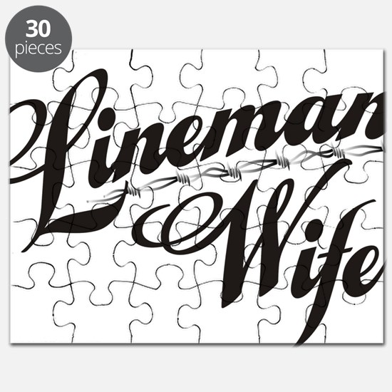 linemans wife black Puzzle