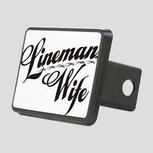 linemans wife black Rectangular Hitch Cover
