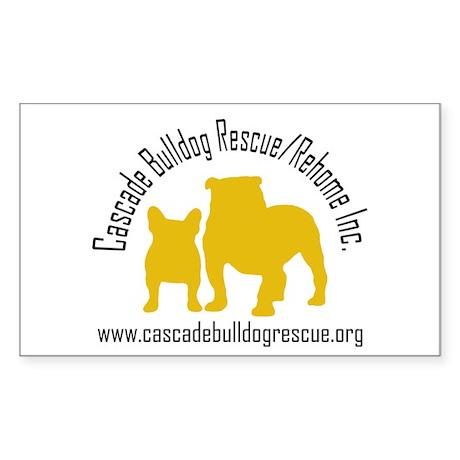 F & B Yellow Logo Rectangle Sticker