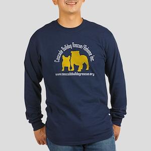F & B Yellow Logo Long Sleeve Dark T-Shirt