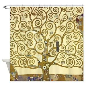 Gustav Klimt Shower Curtains