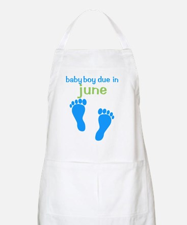bluefeet_babyboyduein_june_green Apron