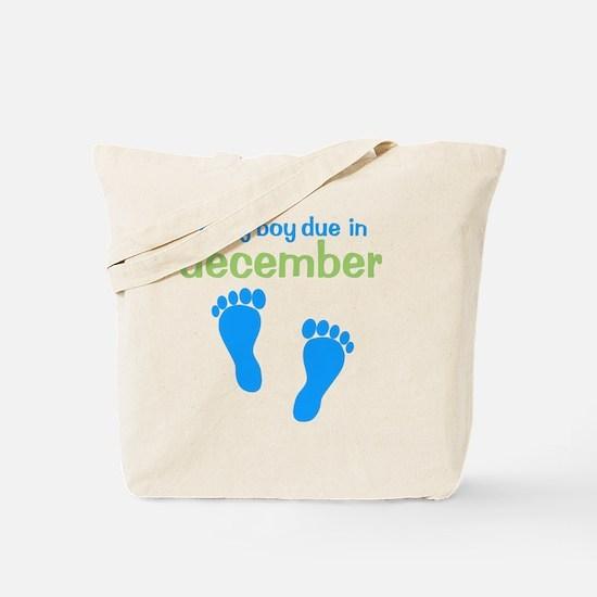 bluefeet_babyboyduein_december_green Tote Bag