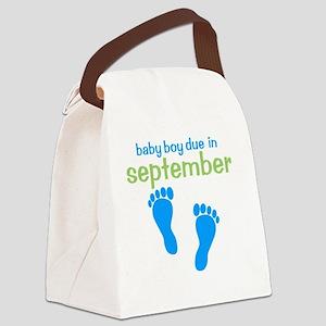 bluefeet_babyboyduein_september_g Canvas Lunch Bag