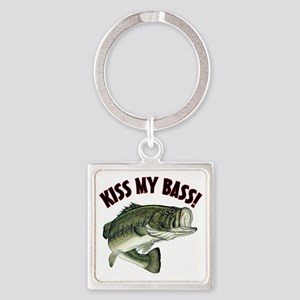 Kiss My Bass Square Keychain