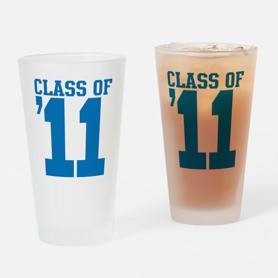 class-2011-blue Drinking Glass