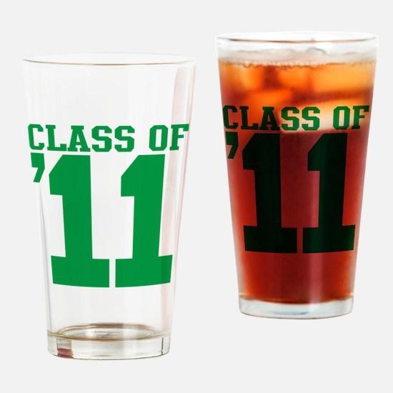 class-2011-green Drinking Glass