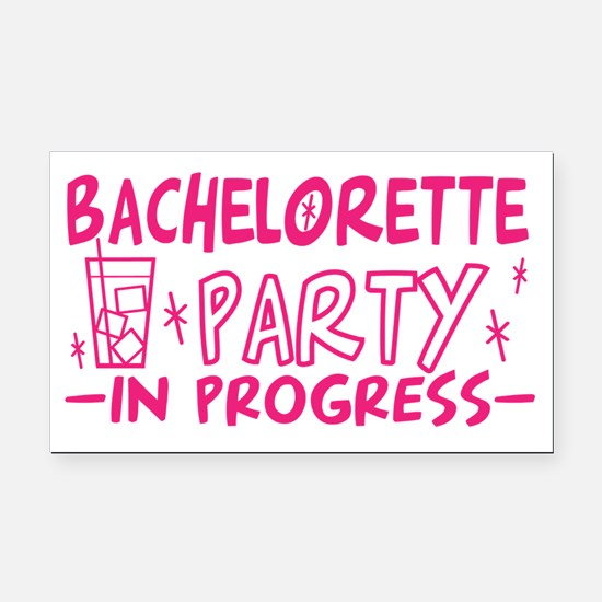 Bachelorette Party In Progres Rectangle Car Magnet