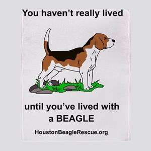2-5beaglelivingwith Throw Blanket