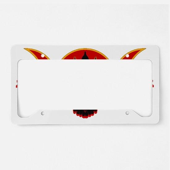 Crow Triple Goddess - Fire License Plate Holder