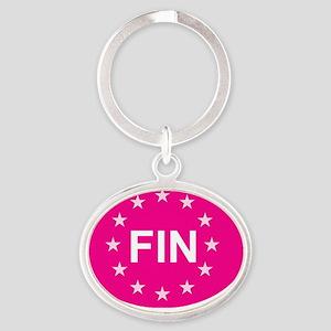 sticker FIN pink Oval Keychain