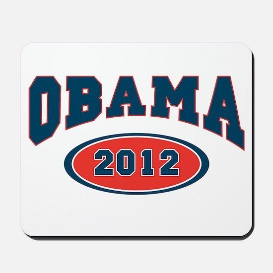 VOTE FOR obama 2012 dark SHIRT blue font Mousepad