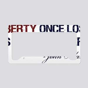 Liberty-Once-Lost-(white-shir License Plate Holder