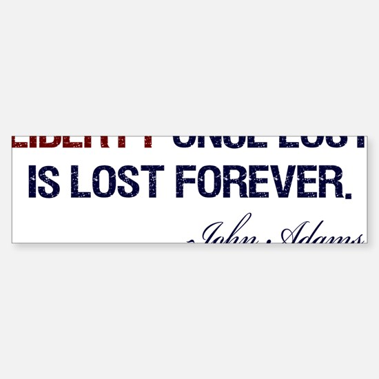 Liberty-Once-Lost-(white-shirt) Sticker (Bumper)