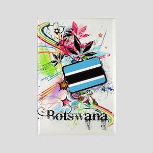 flower1Botswana1 Rectangle Magnet