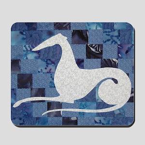 White on Blue Mousepad