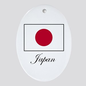 Japan - Japanese Flag Oval Ornament