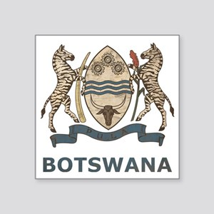 "Vintage2Botswana2 Square Sticker 3"" x 3"""