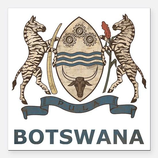 "Vintage2Botswana2 Square Car Magnet 3"" x 3"""