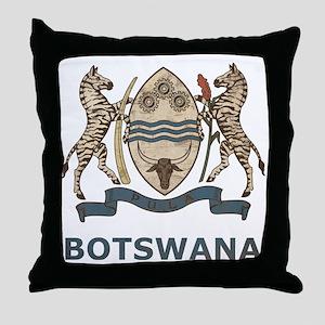 Vintage2Botswana2 Throw Pillow