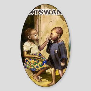 Botswana2 Sticker (Oval)