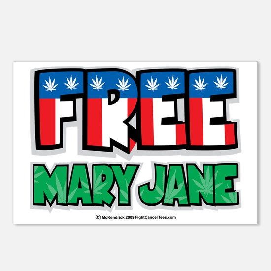 Free-Mary-Jane-2 Postcards (Package of 8)