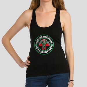 Medical-Marijuana-Helps-Saves-L Racerback Tank Top