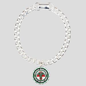 Medical-Marijuana-Helps- Charm Bracelet, One Charm