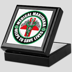 Medical-Marijuana-Helps-Saves-Lives Keepsake Box