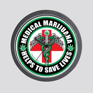 Medical-Marijuana-Helps-Saves-Lives Wall Clock