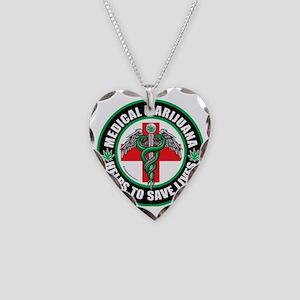 Medical-Marijuana-Helps-Saves Necklace Heart Charm