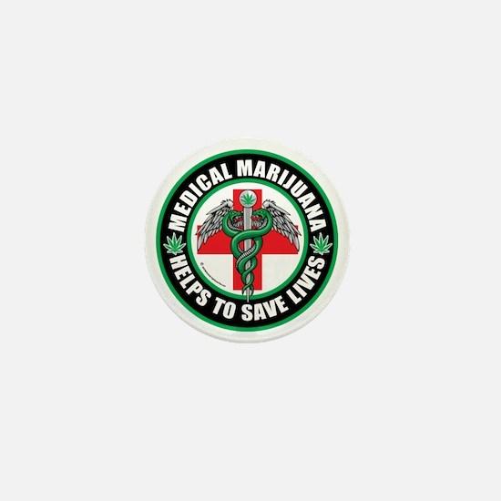 Medical-Marijuana-Helps-Saves-Lives Mini Button