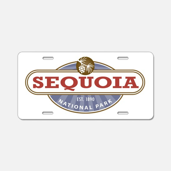 Sequoia National Park Aluminum License Plate