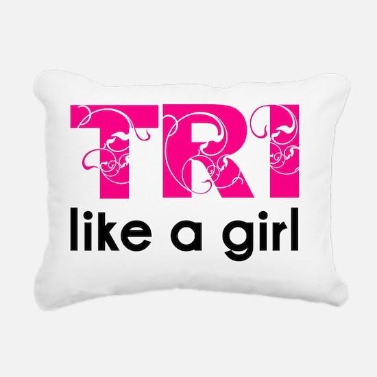 swirltrilikeagirl Rectangular Canvas Pillow