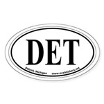 Detroit, Michigan Oval Car Sticker