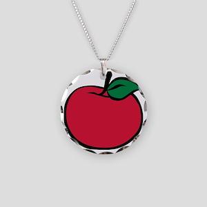 apple_3c Necklace Circle Charm