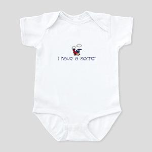Train- I have a secret- big b Infant Bodysuit