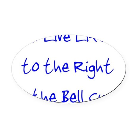 rightofthebellcurveuse Oval Car Magnet