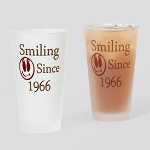 smiling 66 Drinking Glass