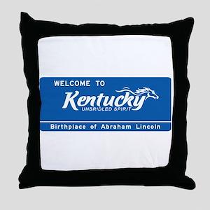 Welcome to Kentucky - USA Throw Pillow