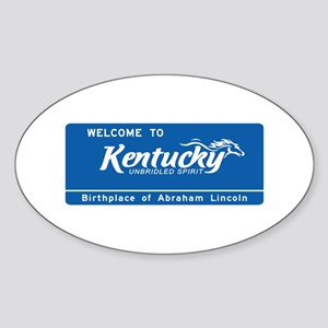 Welcome to Kentucky - USA Oval Sticker