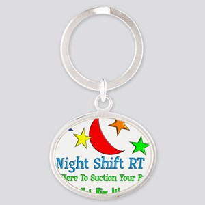 Night Shift RT Oval Keychain