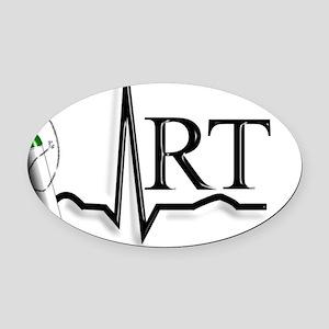 Respirartory Therapist Oval Car Magnet
