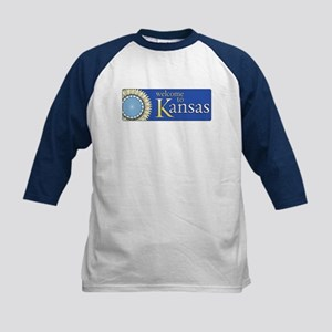 Welcome to Kansas - USA Kids Baseball Jersey