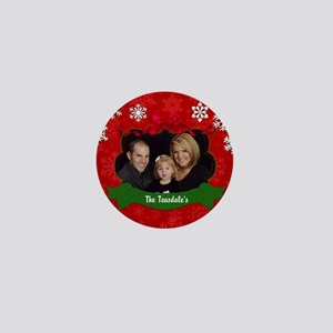 Christmas Photo Mini Button
