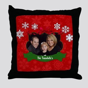 Christmas Photo Throw Pillow