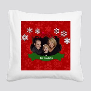 Christmas Photo Square Canvas Pillow