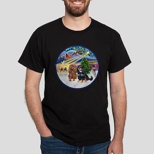 R-Xmas Magic - Two Cavaliers (R=BT2) Dark T-Shirt